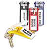 Durable® Key Tags for Locking Key Cabinets, Plastic, 1 1/8 x 2 3/4, Assorted, 24/Pack