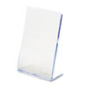 deflect-o® Slanted Desk Sign Holder, Plastic, 4 x 6, Clear