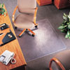 deflect-o® SuperMat Studded Beveled Mat for Medium Pile Carpet, 36 x 48, Clear