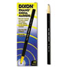 Dixon® China Marker, Black, Dozen