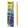 Dixon® Oriole Woodcase Presharpened Pencil, HB #2, Yellow Barrel, 12/Pack