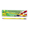 Ticonderoga® Woodcase Pencil, B #1, Yellow Barrel, Dozen