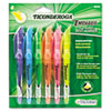 Ticonderoga® Emphasis Pocket Style Highlighter, Chisel Tip, 6/Set