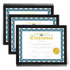 Universal® All Purpose Document Frame, 8 1/2 x 11 Insert, Black, 3/Pack