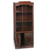 DMi® Governor's Series Bookcase With Doors, 3 Shelves, 30w x 14d x 74h, Mahogany