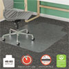 deflecto® SuperMat Frequent Use Chair Mat for Medium Pile Carpet, 46 x 60, Wide Lipped, Clear