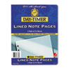 Day-Timer® Lined Note Pads for Organizer, 8-1/2 x 11, 48 Sheets/Pack
