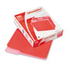 Pendaflex® Two-Tone File Folders, 1/3 Cut Top Tab, Letter, Red/Light Red, 100/Box