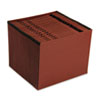 Pendaflex® Earthwise® Recycled Paper, Daily, Expanding File, 31 Pocket, Red Fiber, Letter, Red