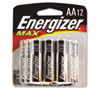 Energizer MAX Alkaline Batteries, AA, 12 Batteries/Pack