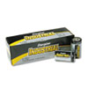 Energizer Industrial Alkaline Batteries, D, 12 Batteries/Pack