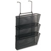 Fellowes® Mesh Partition Additions Three-File Pocket Organizer, 12 5/8 x 16 3/4, Black