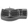 Fellowes® Ergonomic Split-Design Keyboard w/Antimicrobial Protection, 117 Keys, Black