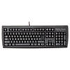 Fellowes® USB Standard Keyboard w/Microban Antimicrobial Protection, 104 Keys, Black