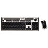 Fellowes® Slimline Wireless Antimicrobial Keyboard and Mouse, 15 ft Range, Black/Silver