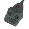 Fellowes® Mighty 8 Surge Protector, 8 Outlets, 6 ft Cord, 1300 Joules, Black