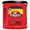 Folgers® Coffee, Classic Roast Regular, Ground, 33 9/10oz, Can, 6/Carton