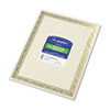 Geographics® Foil Stamped Award Certificates, 8-1/2 x 11, Gold Serpentine Border, 12/Pack