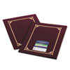 Geographics® Certificate/Document Cover, 12-1/2 x 9-3/4, Burgundy, 6/Pack
