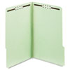 Globe-Weis® Folders, Two Inch Expansion, Two Fasteners, 1/3 Cut Tab, Legal, Green, 25/Box