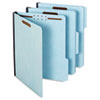 Globe-Weis® Folders, Two Inch Expansion, Two Fasteners, 1/3 Cut, Letter, Light Blue, 25/Box