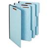 Pendaflex® Earthwise® Heavy-Duty Pressboard Folders, 1/3 Cut, Legal, Light Blue, 25/Box