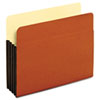 Globe-Weis® Standard File Pockets, Tyvek, 3 1/2 Inch expansion, Letter, Brown, 10/Box