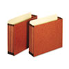 Globe-Weis® 3 1/2 Inch Expansion File Pockets, Straight, Letter, Redrope, 10/Box