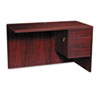 "HON® 10500 Series ""L"" Workstation Return, 3/4 Height Right Ped, 48w x 24d, Mahogany"