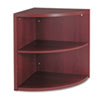 HON® 10500 Series Two-Shelf End Cap Bookshelf, 24w x 24d x 29-1/2h, Mahogany