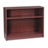 HON® 1870 Series Bookcase, 2 Shelves, 36w x 11-1/2d x 29-7/8h, Mahogany