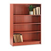 HON® 1870 Series Bookcase, 4 Shelves, 36w x 11-1/2d x 48-3/4h, Henna Cherry