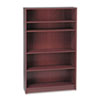 HON® 1870 Series Bookcase, 5 Shelves, 36w x 11-1/2d x 60-1/8h, Mahogany