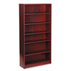 HON® 1870 Series Bookcase, 6 Shelves, 36w x 11-1/2d x 72-5/8h, Mahogany