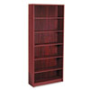 HON® 1890 Series Bookcase, 6 Shelves, 36w x 11-1/2d x 84h, Mahogany