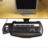 HON Articulating Keyboard Platform with Mouse Tray, 21 x 10-1/2, Black