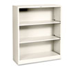 HON® Metal Bookcase, 3 Shelves, 34-1/2w x 12-5/8d x 41h, Putty
