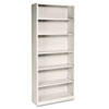 HON® Metal Bookcase, 6 Shelves, 34-1/2w x 12-5/8d x 81-1/8h, Putty