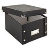 Snap-N-Store® Snap 'N Store Collapsible Index Card File Box Holds 1,100 5 x 8 Cards, Black