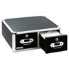 Vaultz® Vaultz Locking 5 x 3 Two-Drawer Index Card Box, 3000-Card Capacity, Black