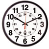 Chicago Lighthouse Quartz 12-24 Hour Wall Clock, 12-3/4in, Black, 1 AA Battery