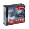 imation® CD-R Discs, 700MB/80min, 52x, w/Slim Jewel Cases, Silver, 10/Pack