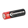 Innovera® Alkaline Batteries, AA, 8 Batteries/Pack