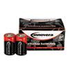 Innovera® Alkaline Batteries, D, 12 Batteries/Pack