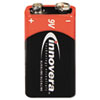 Innovera® Alkaline Batteries, 9V, 4 Batteries/Pack