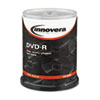 Innovera® DVD-R Discs, 4.7GB, 16x, Spindle, Silver, 100/Pack