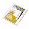 Kleer-Fax® 80000 Series Legal Index Dividers, Side Tab, Printed