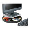 Kensington® Spin2 Monitor Stand, 14 x 14 x 3 1/4, Black