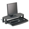 Kensington® Over/Under Keyboard Drawer with SmartFit System, 14-1/2w x 23d, Black