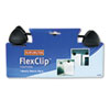 Kensington® FlexClip Gooseneck Copyholder, Monitor/Laptop Mount, Black